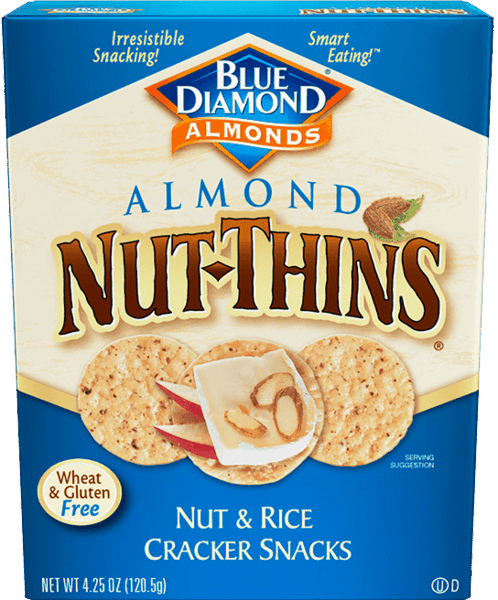 $0.75 for Blue Diamond® Nut-Thins (expiring on Sunday, 11/18/2018). Offer available at Walmart.
