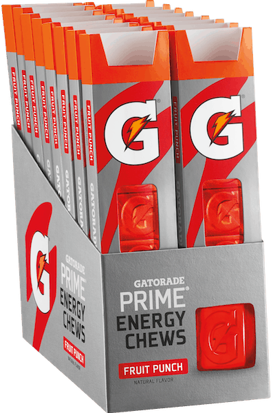 $0.50 for Gatorade Prime® Energy Chews (expiring on Friday, 11/02/2018). Offer available at Walmart.