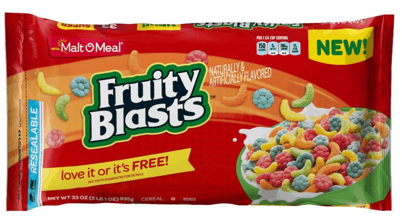 $1.00 for Malt-O-Meal Fruity Blasts Cereal (expiring on Wednesday, 11/18/2020). Offer available at Walmart, Cub Foods, SHOP 'n SAVE, Woodman's Food Markets, Walmart Grocery.