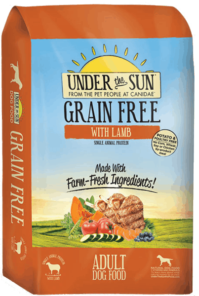 $5.00 for CANIDAE® Under The Sun® Grain Free Adult Dog Food (expiring on Saturday, 09/22/2018). Offer available at Petco.