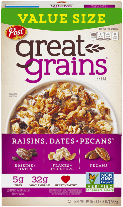 $0.50 for Post® Great Grains®. Offer available at Walmart.