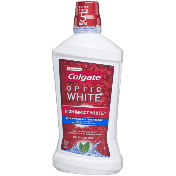$2.00 for Colgate® Optic White® Mouthwash (expiring on Saturday, 11/02/2019). Offer available at Walmart.
