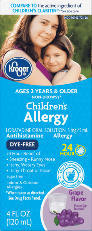 $1.75 for Kroger Non-Drowsy Children's Allergy Relief (expiring on Saturday, 08/29/2020). Offer available at multiple stores.