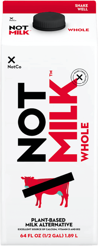 $2.00 for NotCo NotMilk (expiring on Sunday, 10/31/2021). Offer available at Wegmans.