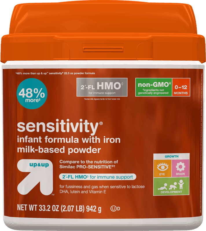 $3.00 for Up&Up™ Sensitivity® Infant Formula (expiring on Wednesday, 10/02/2019). Offer available at Target.
