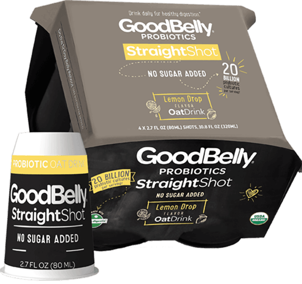 $0.75 for GoodBelly® StraightShot Flavors. Offer available at Walmart.