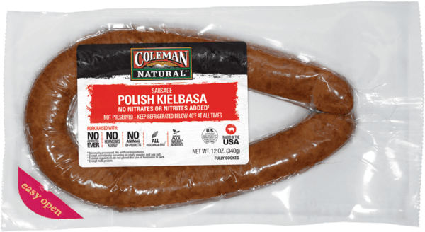 $1.50 for Coleman Natural® Polish Kielbasa Pork Sausage or Beef Uncured Hot Dogs (expiring on Saturday, 10/06/2018). Offer available at multiple stores.