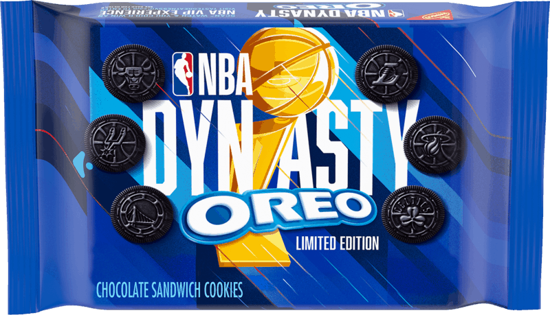 $1.00 for OREO NBA Dynasty Chocolate Sandwich Cookies (expiring on Tuesday, 08/17/2021). Offer available at multiple stores.