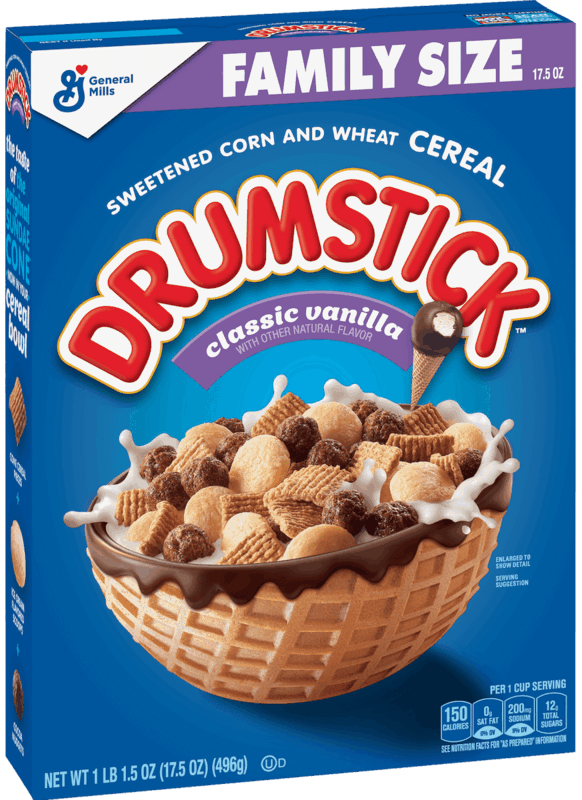 $1.00 for Drumstick™ Cereal (expiring on Sunday, 02/02/2020). Offer available at Walmart.