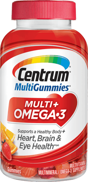 $2.00 for Centrum® MultiGummies® Multi + Omega-3. Offer available at Walmart.