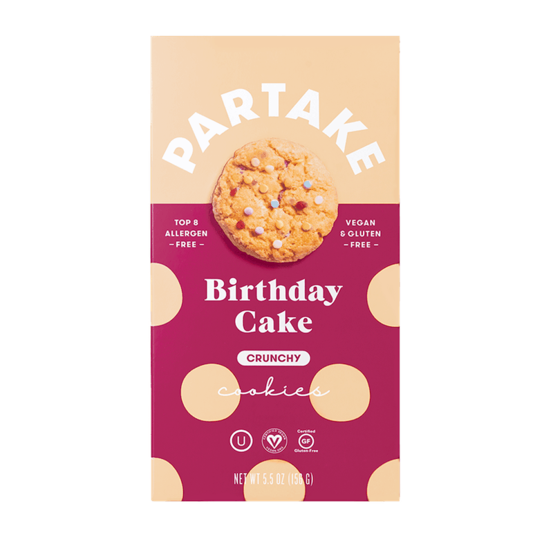 $0.50 for Partake Cookies (expiring on Sunday, 10/31/2021). Offer available at Wegmans, The Fresh Market.