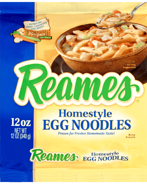 $0.40 for Reames® Egg Noodles (expiring on Wednesday, 02/28/2018). Offer available at multiple stores.