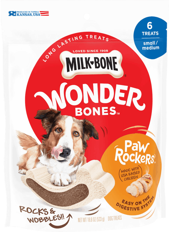 $1.75 for Milk-Bone Wonder Bones (expiring on Wednesday, 04/15/2020). Offer available at multiple stores.