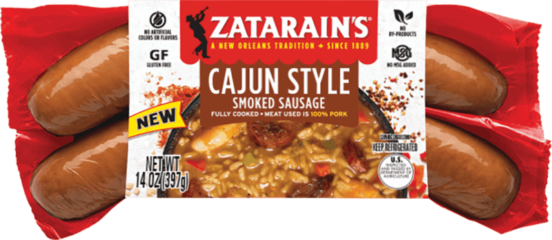 $0.75 for Zatarain's® Cajun Style Smoked Sausage (expiring on Monday, 03/02/2020). Offer available at multiple stores.