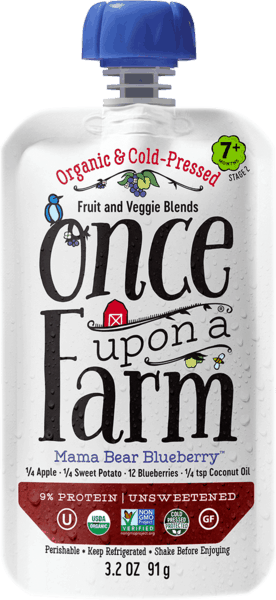 $0.50 for Once Upon a Farm Organic, Cold-Pressed Baby Food (expiring on Friday, 11/02/2018). Offer available at multiple stores.