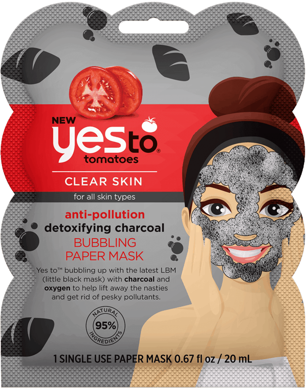 $1.00 for Yes To® Facial Bubbling Masks. Offer available at Walmart.
