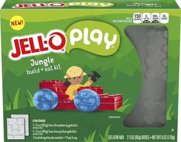 $1.00 for Jell-O® Play™ Build + Eat Kit. Offer available at Walmart.