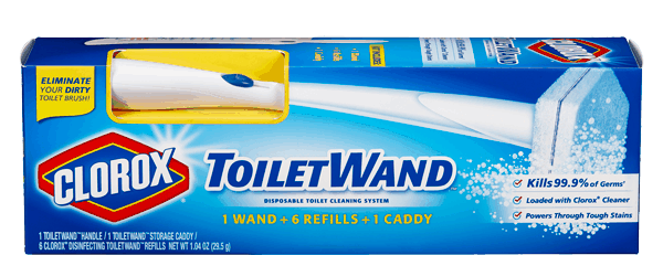 $2.00 for Clorox® ToiletWand® System (expiring on Monday, 04/02/2018). Offer available at Walmart.