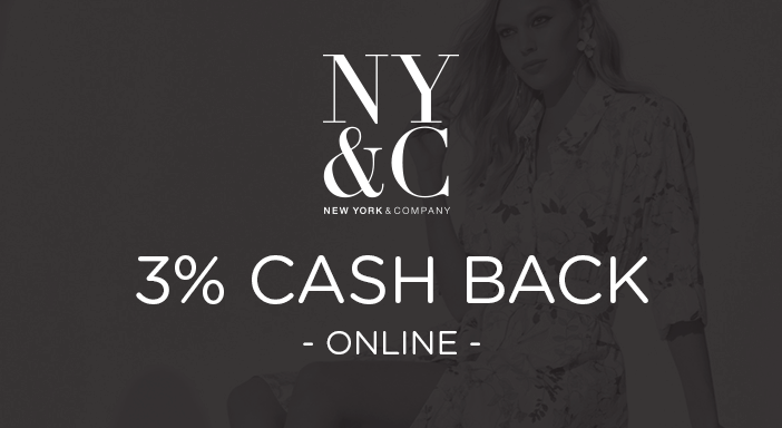 $0.00 for New York & Co (expiring on Monday, 03/31/2025). Offer available at New York & Co.