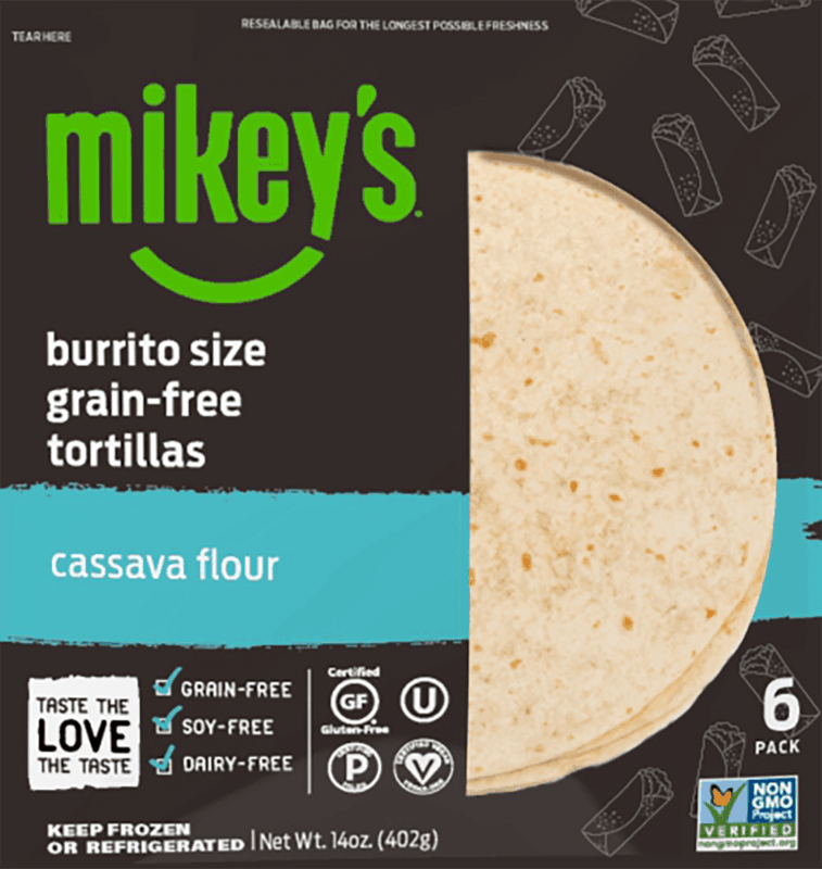 $1.00 for Mikey's™ Burrito Tortillas (expiring on Wednesday, 01/01/2020). Offer available at Sprouts Farmers Market.