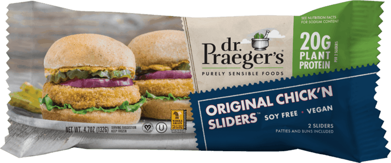 $0.50 for Dr. Praeger's Sliders (expiring on Saturday, 10/16/2021). Offer available at multiple stores.