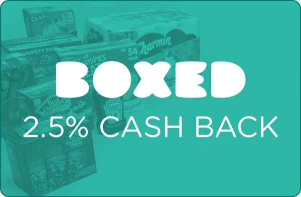 $0.00 for Boxed (expiring on Friday, 08/24/2018). Offer available at Boxed.