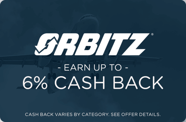 $0.00 for Orbitz (expiring on Wednesday, 02/28/2018). Offer available at Orbitz.