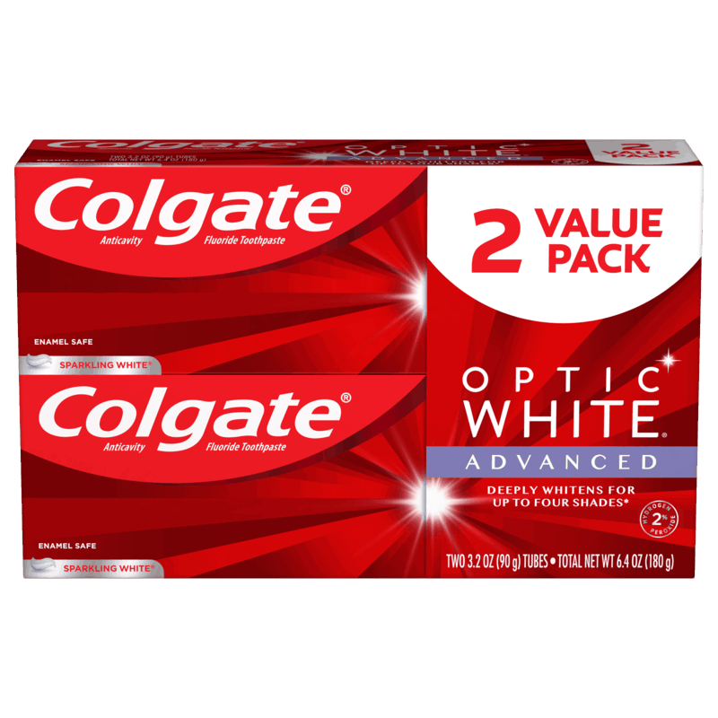 $2.50 for Colgate® Optic White Advanced Toothpaste (expiring on Sunday, 12/20/2020). Offer available at Walmart, Walmart Grocery.
