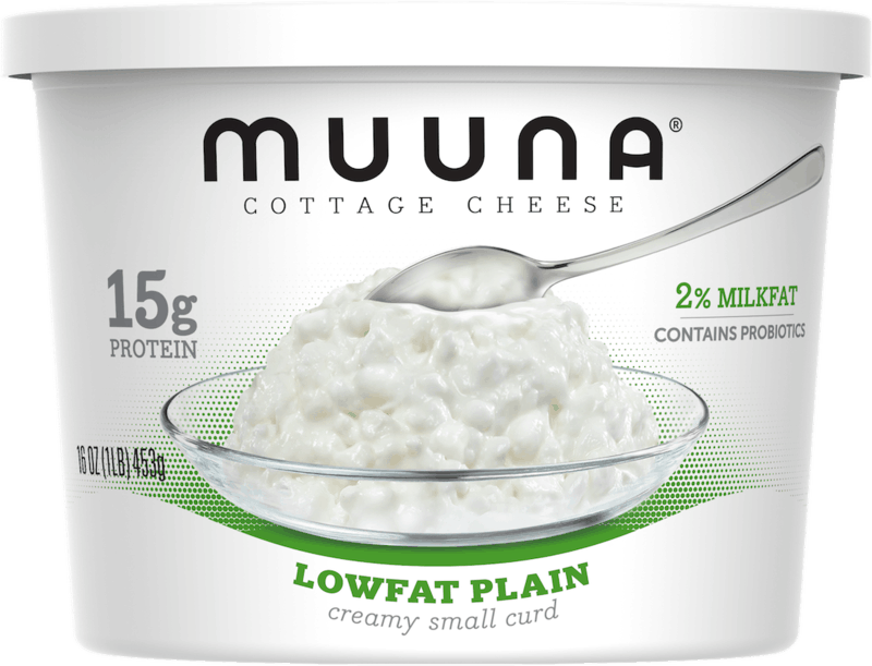 $0.75 for Muuna® Cottage Cheese Lowfat Plain (expiring on Monday, 09/02/2019). Offer available at Walmart.