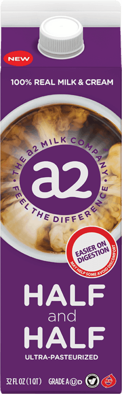 $1.00 for a2 Milk Half and Half (expiring on Monday, 01/31/2022). Offer available at Albertsons.