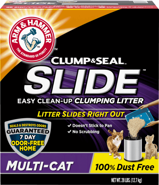 $2.00 for ARM & HAMMER™ SLIDE™ Cat Litter (expiring on Saturday, 03/02/2019). Offer available at Walmart.