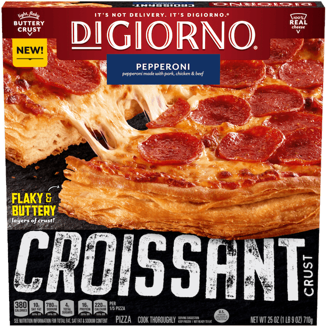 $1.00 for DIGIORNO Croissant Crust Frozen Pizza. Offer available at Walmart, Walmart Pickup & Delivery.