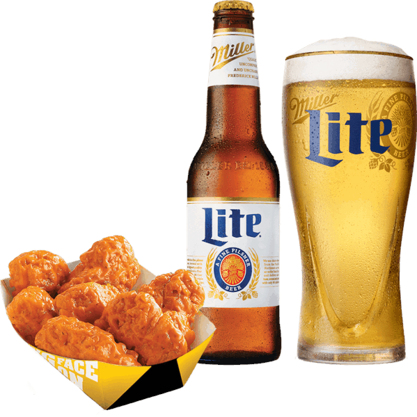 $4.00 for Miller Lite® and Any Food Item (expiring on Tuesday, 10/31/2017). Offer available at Buffalo Wild Wings, Any Restaurant, Any Bar.