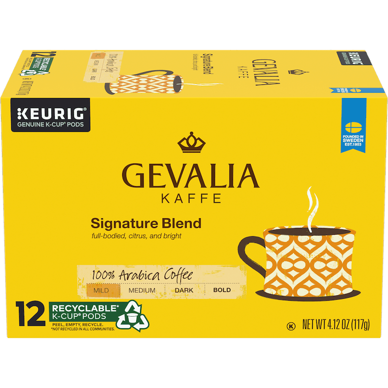 $1.00 for Gevalia Kaffe Coffee Pods (expiring on Sunday, 05/02/2021). Offer available at multiple stores.
