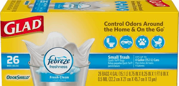 $1.00 for Glad® Trash Bags. Offer available at Walmart, Publix.