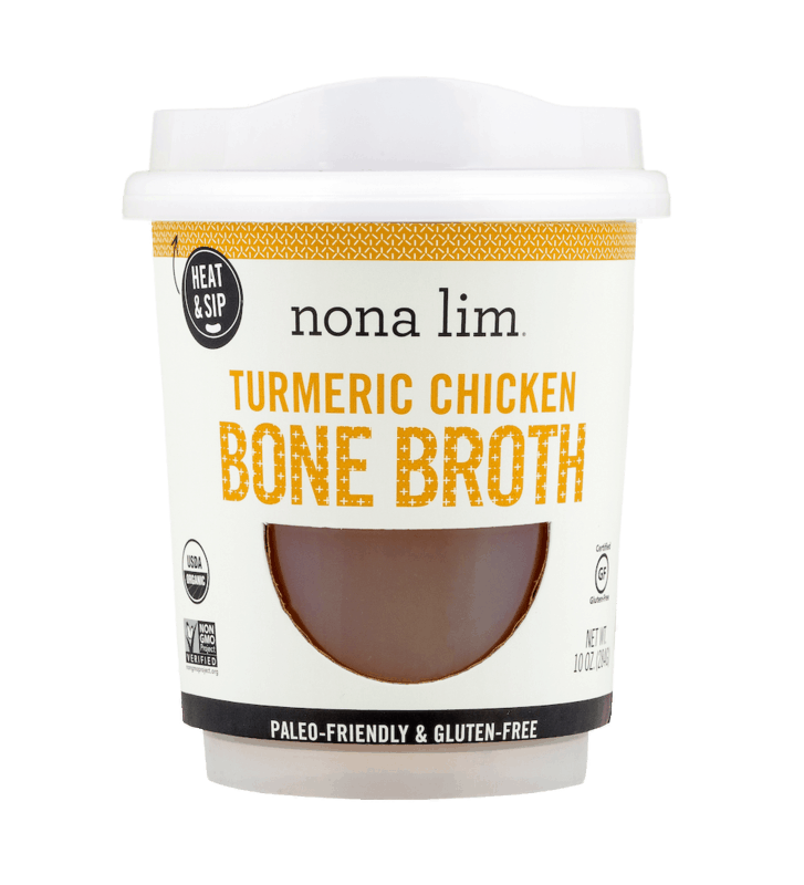 $2.00 for Nona Lim Turmeric Chicken Bone Broth Cup (expiring on Thursday, 01/02/2020). Offer available at Whole Foods Market®.