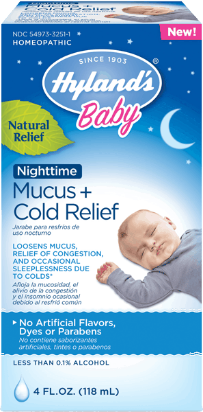 $1.00 for Hyland's® Baby Nighttime Mucus + Cold Relief (expiring on Friday, 10/20/2017). Offer available at Target, Walmart, Walgreens, CVS Pharmacy, Discount Drug Mart.