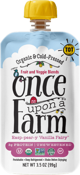 $0.50 for Once Upon A Farm Fruit & Veggie Blends for Tots (expiring on Friday, 11/02/2018). Offer available at multiple stores.