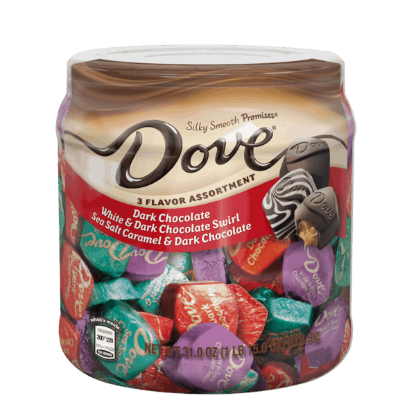 $1.50 for DOVE® Promises® Chocolate 3 Flavor Assortment (expiring on Thursday, 05/31/2018). Offer available at Sam's Club.