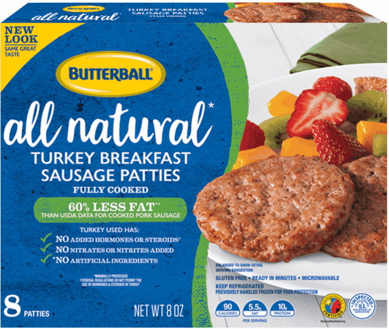 $0.60 for Butterball® All Natural Turkey Breakfast Sausage Patties. Offer available at Walmart.
