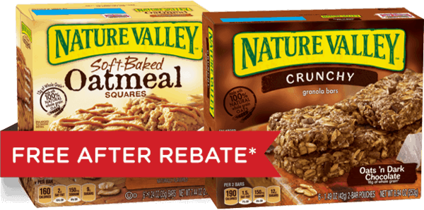 $3.00 for Nature Valley™ Crunchy Granola Bars & Soft-Baked Oatmeal Squares Combo (expiring on Monday, 02/12/2018). Offer available at Walmart.