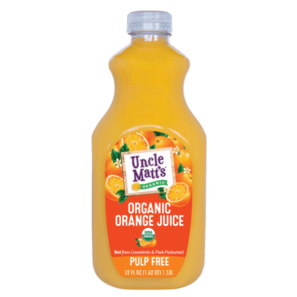 $1.25 for Uncle Matt's® Organic Orange Juice (expiring on Monday, 09/02/2019). Offer available at Walmart.