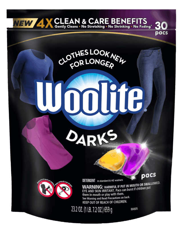 $2.00 for Woolite® Dark Pacs (expiring on Tuesday, 09/01/2020). Offer available at multiple stores.