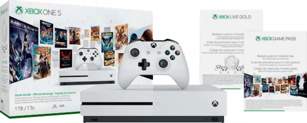 $2 00 for Microsoft - Xbox One S 1TB Starter Bundle with 4K