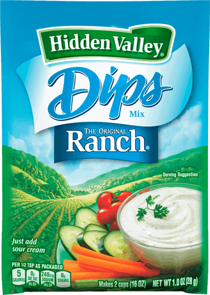 $0.50 for Hidden Valley® Dips or Dressing Mixes (expiring on Wednesday, 05/02/2018). Offer available at Walmart.