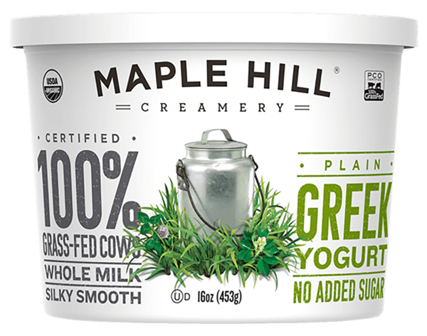 $0.75 for Maple Hill® 100% Grass-Fed Organic Greek Yogurt (expiring on Wednesday, 05/02/2018). Offer available at multiple stores.