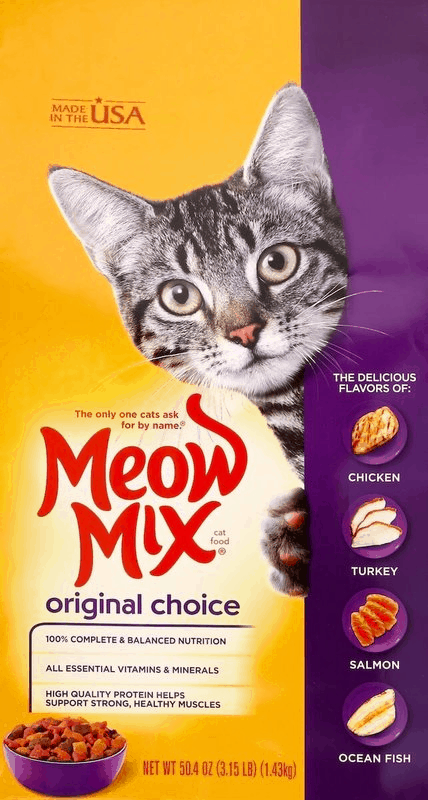 $0.75 for Meow Mix® Dry Food - Small bag (expiring on Wednesday, 10/02/2019). Offer available at multiple stores.