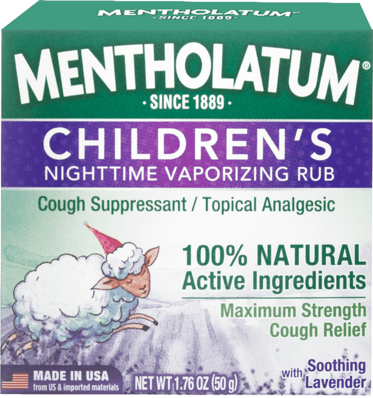 $0.50 for Mentholatum Children's Vaporizing Chest Rub Maximum Strength (expiring on Sunday, 03/01/2020). Offer available at multiple stores.
