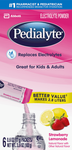 $1.00 for Pedialyte® Electrolyte Powder (expiring on Monday, 09/03/2018). Offer available at multiple stores.
