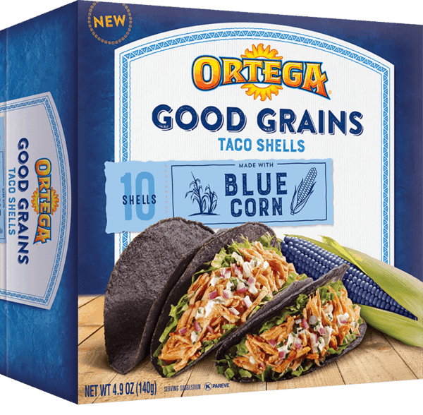 $0.75 for Ortega® Good Grains Blue Corn Taco Shells (expiring on Friday, 03/02/2018). Offer available at multiple stores.